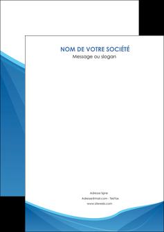 imprimer flyers bleu bleu pastel couleur froide MLGI67269