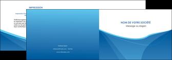 creation graphique en ligne depliant 2 volets  4 pages  bleu bleu pastel couleur froide MLGI67281