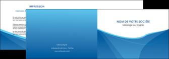 modele en ligne depliant 2 volets  4 pages  bleu bleu pastel couleur froide MLGI67283