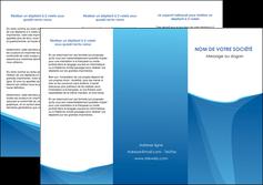 impression depliant 3 volets  6 pages  bleu bleu pastel couleur froide MLGI67291