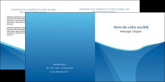 realiser depliant 2 volets  4 pages  bleu bleu pastel couleur froide MLGI67295