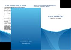 maquette en ligne a personnaliser depliant 2 volets  4 pages  bleu bleu pastel couleur froide MLGI67305