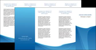 personnaliser modele de depliant 4 volets  8 pages  bleu bleu pastel couleur froide MLGI67313