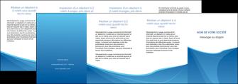 imprimer depliant 4 volets  8 pages  bleu bleu pastel couleur froide MLGI67315