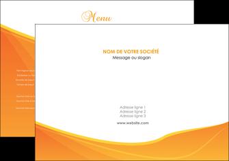 modele en ligne set de table orange fond orange jaune MLGI67373