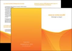 personnaliser maquette depliant 2 volets  4 pages  orange fond orange jaune MLGI67379
