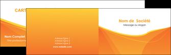 imprimerie carte de visite orange fond orange jaune MLGI67381