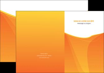 creation graphique en ligne pochette a rabat orange fond orange jaune MLGI67385