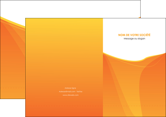 realiser pochette a rabat orange fond orange jaune MLGI67387