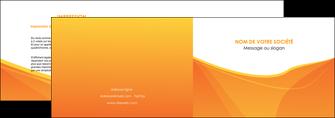 personnaliser modele de depliant 2 volets  4 pages  orange fond orange jaune MLGI67389