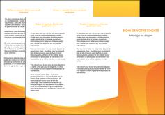 faire modele a imprimer depliant 3 volets  6 pages  orange fond orange jaune MLGI67399