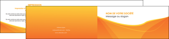 faire depliant 2 volets  4 pages  orange fond orange jaune MLGI67409