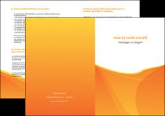 imprimerie depliant 2 volets  4 pages  orange fond orange jaune MLGI67413