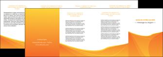 creation graphique en ligne depliant 4 volets  8 pages  orange fond orange jaune MLGI67415