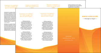 personnaliser maquette depliant 4 volets  8 pages  orange fond orange jaune MLGI67419