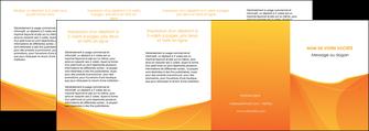 personnaliser maquette depliant 4 volets  8 pages  orange fond orange jaune MLGI67421