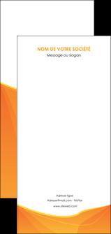 maquette en ligne a personnaliser flyers orange fond orange jaune MLGI67423