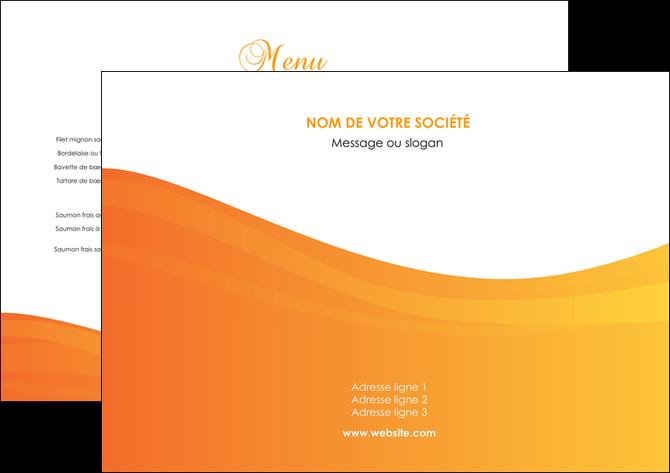 imprimer set de table orange fond orange couleur MLGI67841