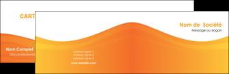 faire modele a imprimer carte de visite orange fond orange couleur MLGI67849