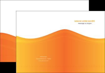 personnaliser modele de pochette a rabat orange fond orange couleur MLGI67853