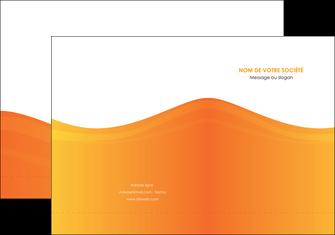 faire modele a imprimer pochette a rabat orange fond orange couleur MLGI67855
