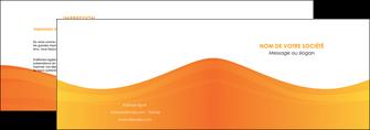 modele en ligne depliant 2 volets  4 pages  orange fond orange couleur MLGI67857