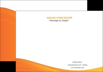 personnaliser maquette affiche orange fond orange couleur MLGI67865