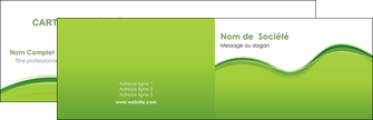 exemple carte de visite espaces verts vert vert pastel couleur pastel MLGI68023