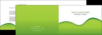 cree depliant 2 volets  4 pages  espaces verts vert vert pastel couleur pastel MLGI68031