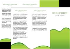 impression depliant 3 volets  6 pages  espaces verts vert vert pastel couleur pastel MLGI68041