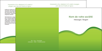 modele depliant 2 volets  4 pages  espaces verts vert vert pastel couleur pastel MLGI68045