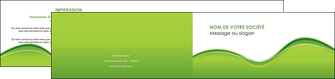 cree depliant 2 volets  4 pages  espaces verts vert vert pastel couleur pastel MLGI68051