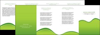 impression depliant 4 volets  8 pages  espaces verts vert vert pastel couleur pastel MLGI68057