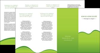 modele en ligne depliant 4 volets  8 pages  espaces verts vert vert pastel couleur pastel MLGI68061