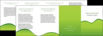 realiser depliant 4 volets  8 pages  espaces verts vert vert pastel couleur pastel MLGI68063