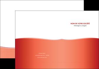 personnaliser maquette pochette a rabat rouge couleurs chaudes fond  colore MLIG68351