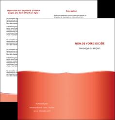 creation graphique en ligne depliant 2 volets  4 pages  rouge couleurs chaudes fond  colore MLIG68365