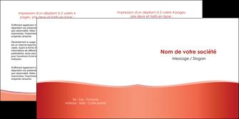 personnaliser maquette depliant 2 volets  4 pages  rouge couleurs chaudes fond  colore MLIG68367