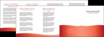 cree depliant 4 volets  8 pages  rouge couleurs chaudes fond  colore MLGI68379
