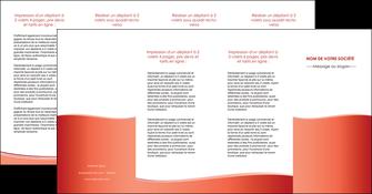 exemple depliant 4 volets  8 pages  rouge couleurs chaudes fond  colore MLIG68383