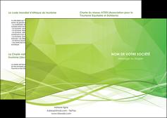 impression depliant 2 volets  4 pages  espaces verts vert vert pastel couleur pastel MLGI68559