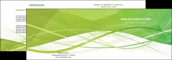 faire depliant 2 volets  4 pages  espaces verts vert vert pastel couleur pastel MLGI68569