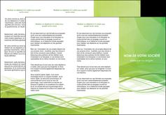 exemple depliant 3 volets  6 pages  espaces verts vert vert pastel couleur pastel MLGI68579