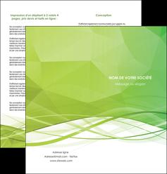 imprimerie depliant 2 volets  4 pages  espaces verts vert vert pastel couleur pastel MLGI68581