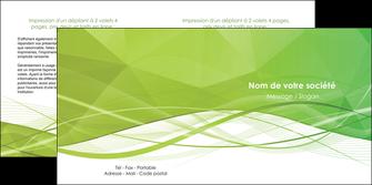 personnaliser maquette depliant 2 volets  4 pages  espaces verts vert vert pastel couleur pastel MLGI68583