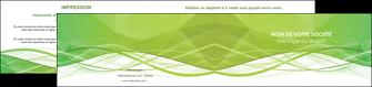 exemple depliant 2 volets  4 pages  espaces verts vert vert pastel couleur pastel MLGI68589