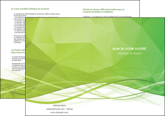 modele en ligne depliant 2 volets  4 pages  espaces verts vert vert pastel couleur pastel MLGI68593