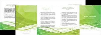 modele depliant 4 volets  8 pages  espaces verts vert vert pastel couleur pastel MLGI68595