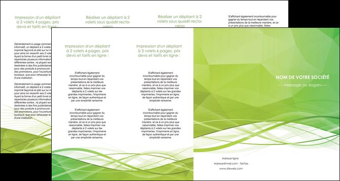 creer modele en ligne depliant 4 volets  8 pages  espaces verts vert vert pastel couleur pastel MLGI68599