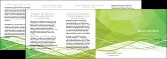 maquette en ligne a personnaliser depliant 4 volets  8 pages  espaces verts vert vert pastel couleur pastel MLGI68601